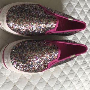 Kate spade Triple Decker Sparkle Tennis Shoes